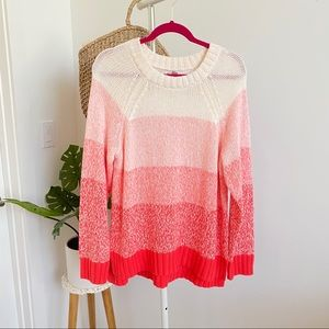 Aerie • New Striped Ombré Sweater Sz L